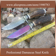 Outdoor knife damascus steel blade stainless steel knife fixed blade camping knife hunting knife tanto militar couteau DT113