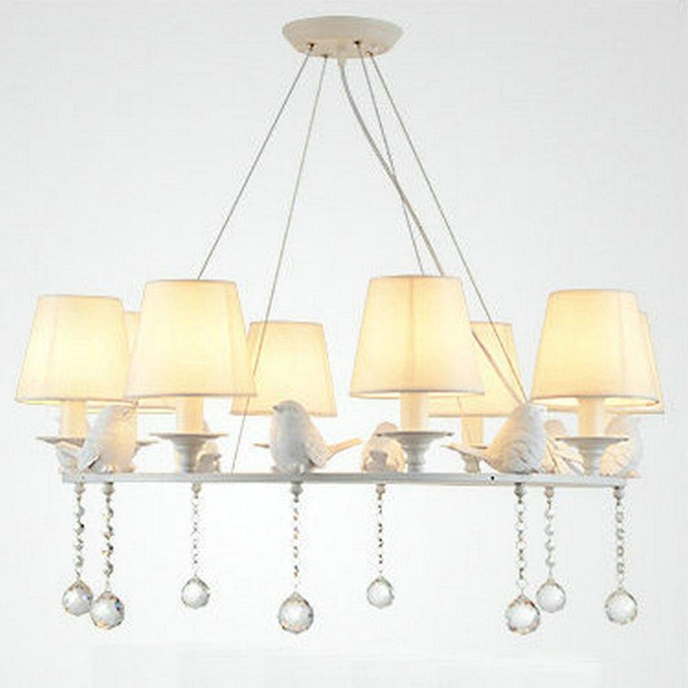 popular white chandelier lightbuy cheap white chandelier light  - modern american large white round bird crystal chandelier light whitelampshade for living room dining room