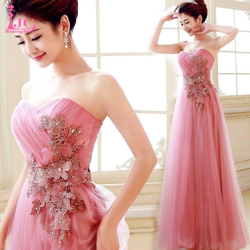 Encantador Vestido De Fiesta Sin Tirantes De Color Rosa Componente ...