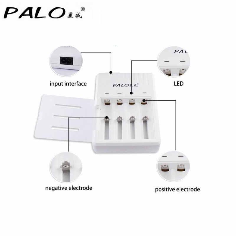 PALO оригинальное зарядное устройство для аккумуляторов для 18650 18500 14500 16340 батареи с 18650 3,7 V 8 шт. аккумуляторных батарей batterias