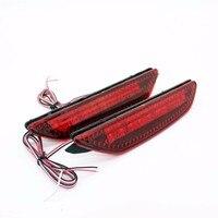 2x LED Red Lens 48LED Rear Bumper Reflector Light Fog Parking Warning Brake Light Tail Lamp