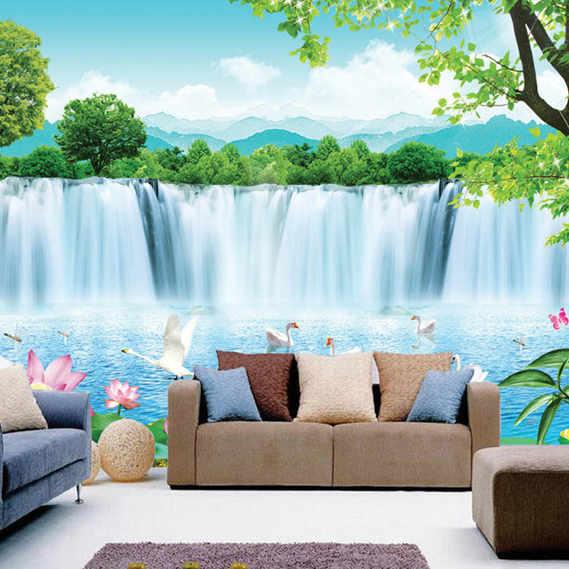Modern Minimalist 3d Wallpaper Sea Vinyl Waterproof Childrens Wall Murals Beauty Of The Great