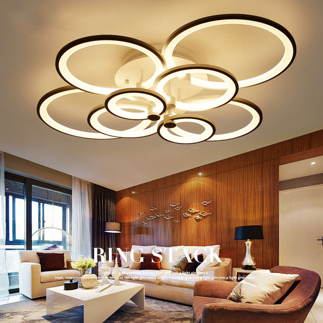 Remote Control Modern Led Ceiling Lights For Living Room Bedroom Hallway  Acrylic Aluminum Body Lamp Dimmer Home Lighting Fixture