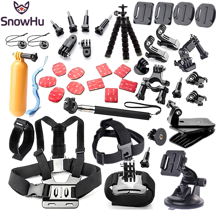SnowHu For Gopro accessories set mount tripod for go pro hero 5 4 3 sjcam sj4000
