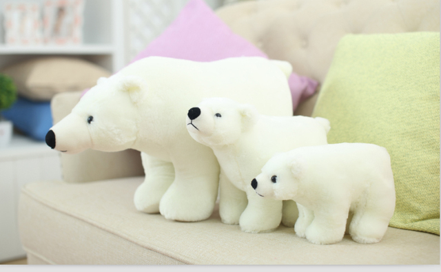 Hot Sale High Quality Polar Bear Plush Doll Simulation Of Small