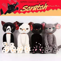 40CM High Quality Scratch Cats Plush Toys Japanese Anime Figure Simulational Neko Stuffed Kids Toys Decoration
