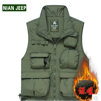 015Hot New High-end Ma3 jia3 vest for men American leisure photography big yards cotton vest coat