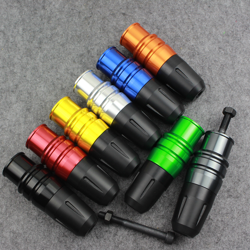 New CNC Aluminum Crash Pads Motorcycle Exhaust Sliders Crash Protector For Kawasaki Z800 Z250 DMV 8 colors юбка luhta luhta lu692ewwrf08