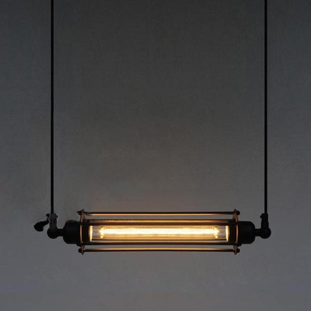 Industrial Retro Double Head Vintage Flute Pendant Lamp Kitchen Bar - Double pendant light kitchen