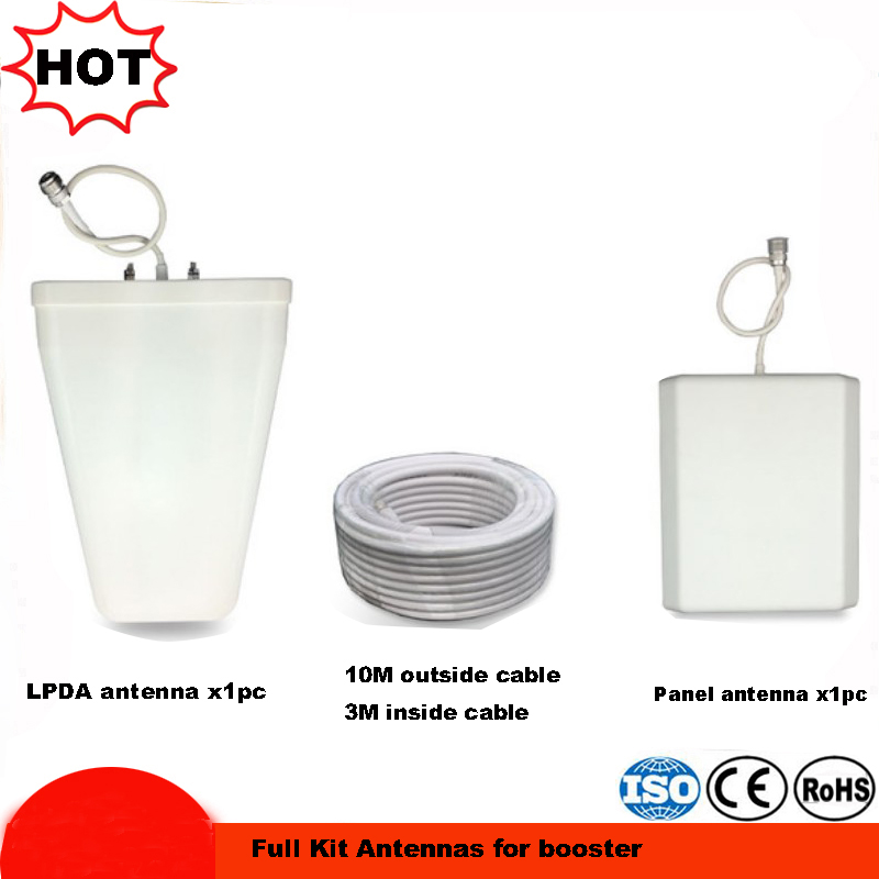 2G 3G 4g Antenna 698-2700MHz LPDA Antenna+panel Antenna +cable With N Female Connector Mobile Repeater Antenna