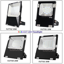 Miboxer 10W/20W/30W/50W RGB+CCT LED Flood light Waterproof IP65 FUTT04 Outdoor Lighting For Garden;AC86-265V