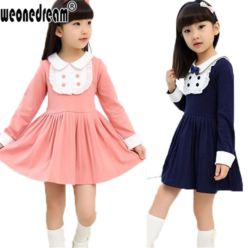 WEONEDREAM Vetement Enfant Girlsu0026#39; Clothes Girls Autumn Baby School Dress Girls Wear Long Sleeve ...