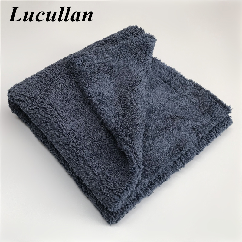 Ultra Thick-Black/Dark Blue Edgeless Microfiber Towel 16