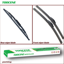 Front And Rear Wiper Blades For Cadillac CTS 2008 2009 2010 Rubber Windscreen Windshield Wipers Car Accessories