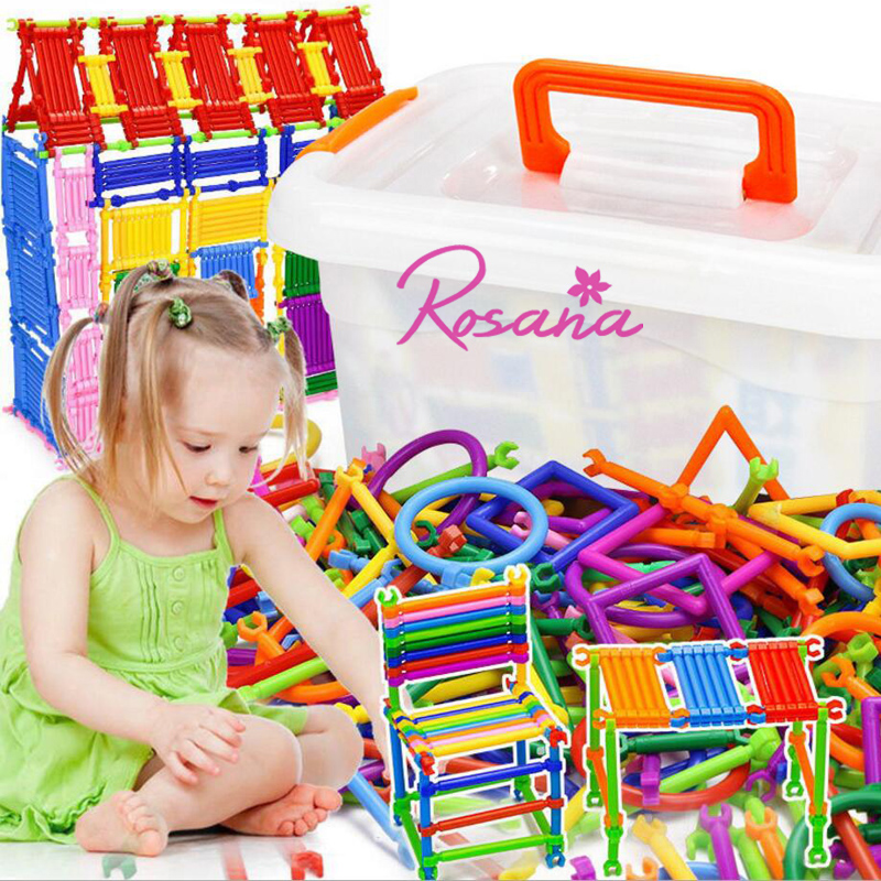 Rosana Building Block Smart Stick Plastic Lrregular Toy Brick 3 years Old and Above Child Education Smart Magic Wand Kids Gifts