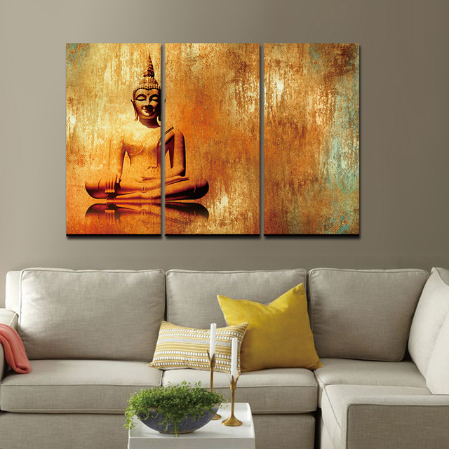 canvas prints for living room red decor painting wall art picture buddha zen paintings pictures cuadros decoracion