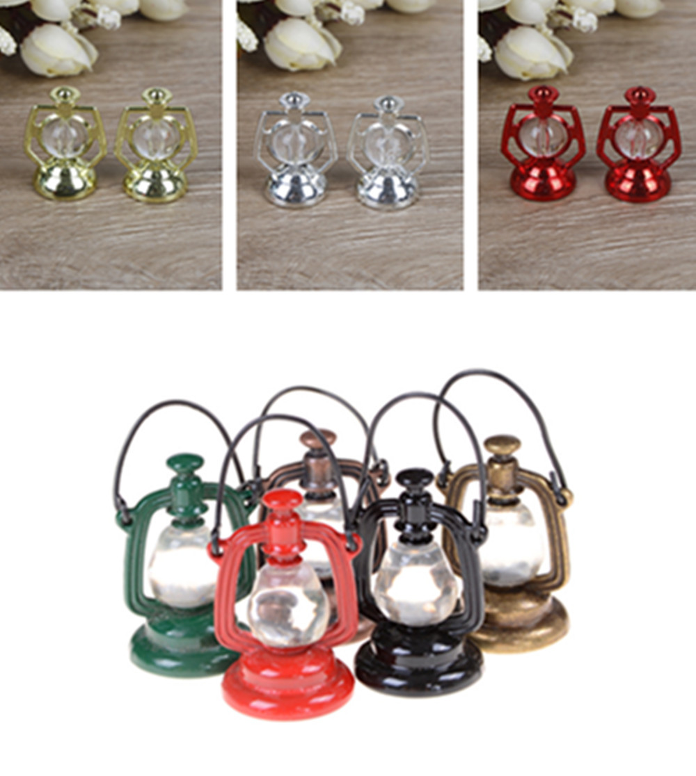 1 Pcs <font><b>1:6</b></font> 1:12 Scale Retro Oil Lamp Dollhouse <font><b>Miniature</b></font> Furniture Toy Doll Food Kitchen Living Room Accessories image