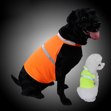 Pets Fluorescent Security Dog Reflective Vest Clothes Safety Luminous Waterproof Pet Clothing