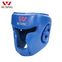 Wesing MMA Boxing Helmet Closed Type Boxer Head Guard Muay Thai Head Protection Kickboxing Face Shield Protectors for Training