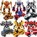 Children Alloy deformation robot diecasts toy vehicle boy Transformation toys Optimus Prime Bumblebee model kids boy toy gifts
