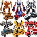 Crianças Liga deformação robô de brinquedo diecasts veículos menino brinquedos Transformação Optimus Prime Bumblebee modelo crianças brinquedo do menino presentes