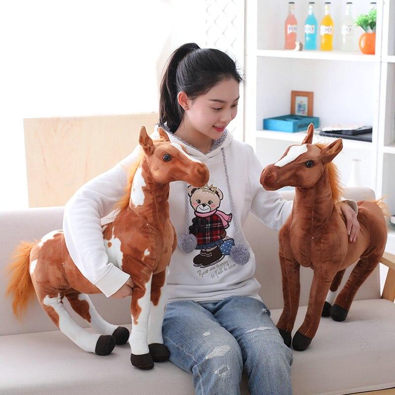 Simulation Horse Plush Toy Doll Mascot Horse Pony Doll Child Zodiac Doll Decoration Birthday Gift For Boy School Toys