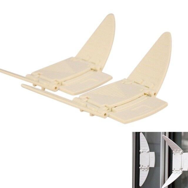 2 Pçs/set Beige Porta De Correr E Janela De Segurança De Plástico Mudança  Push
