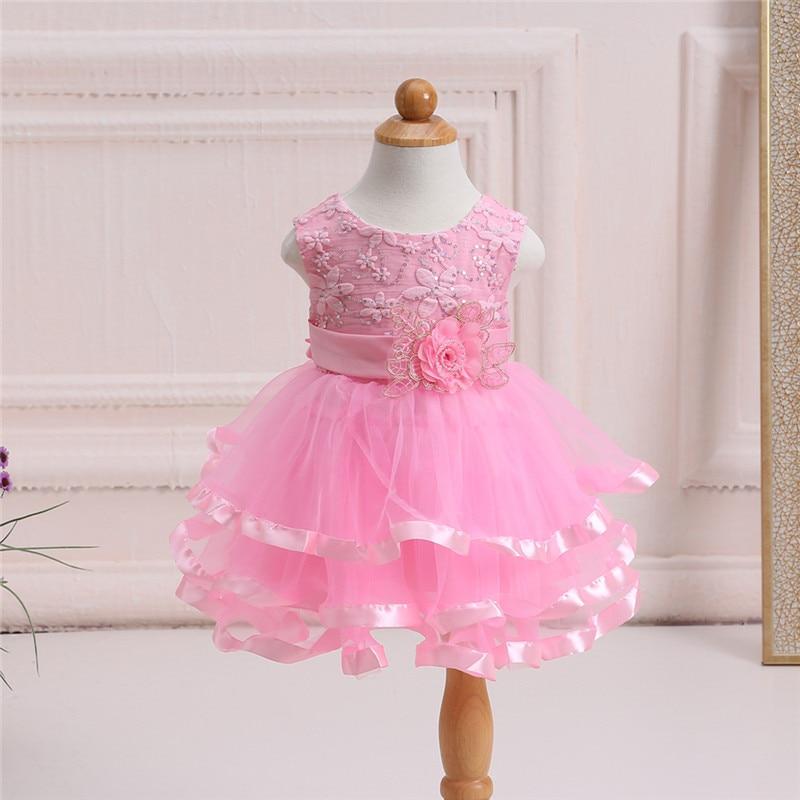 ̀ •́ Moda de verano recién nacido boda Vestidos sólido lentejuelas ...
