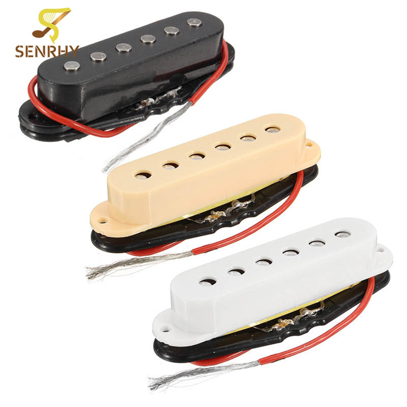 SENRHY Chrome Electric Guitar Humbucker Single Coil Bridge Plate/Saddle Neck/Middle/Bridge Pickup Musical Instruments Parts Hot belcat electric guitar pickups humbucker alnico 5 humbucking bridge neck chrome double coil pickup guitar parts accessories