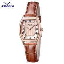 PREMA Brand women watches Fashion female watch 2017 Ladies Casual Quartz Watch leather Clock WristWatch Women dropshipping