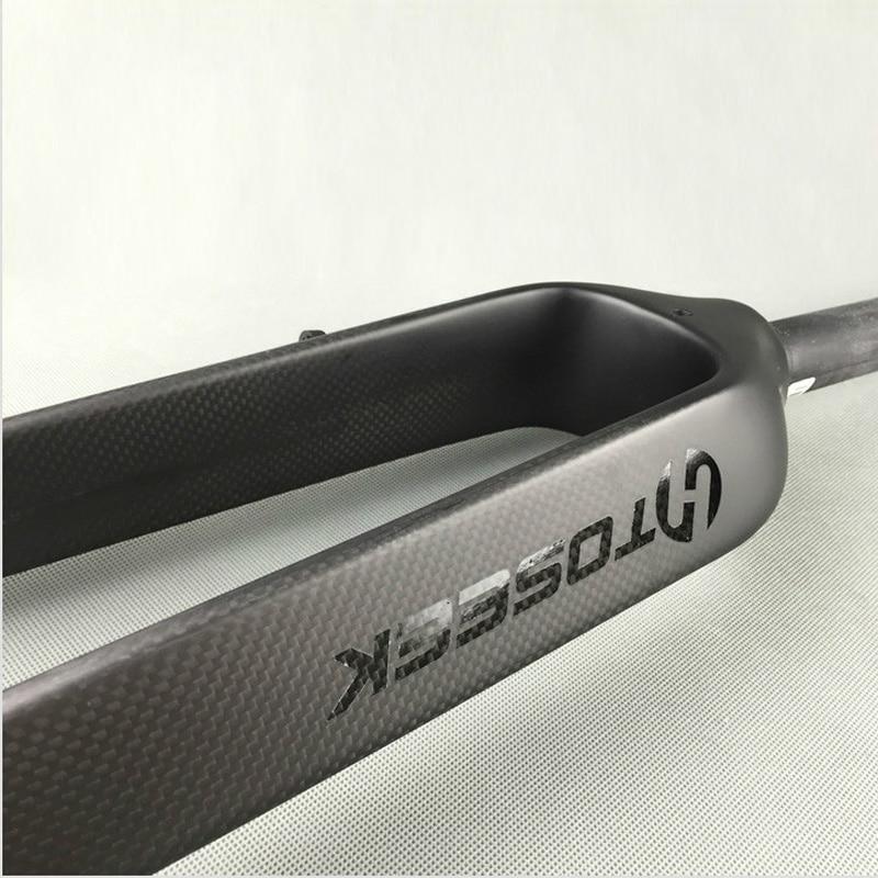 TOSEEK full carbon fiber mountain bike fork bicycle hard fork  disc brake  26 ER/ 29 ER inch mtb bicicleta accessories