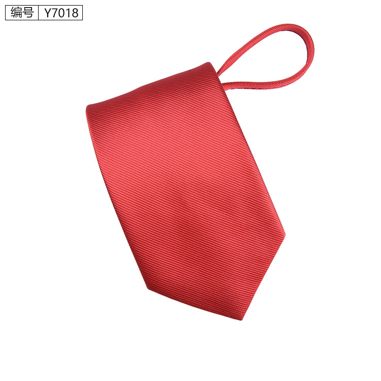 New 7cm Zipper Men Ties Business Fashion Style Slim Men Neck Tie Simplicity Design Solid Color For Party Lazy Formal Ties 7