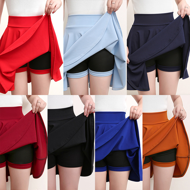 Surmiitro Plus Size 4XL Shorts Skirts Womens 2020 Summer A line Sun School High Waist Pleated Skirt Female Korean Elegant Skirt 6