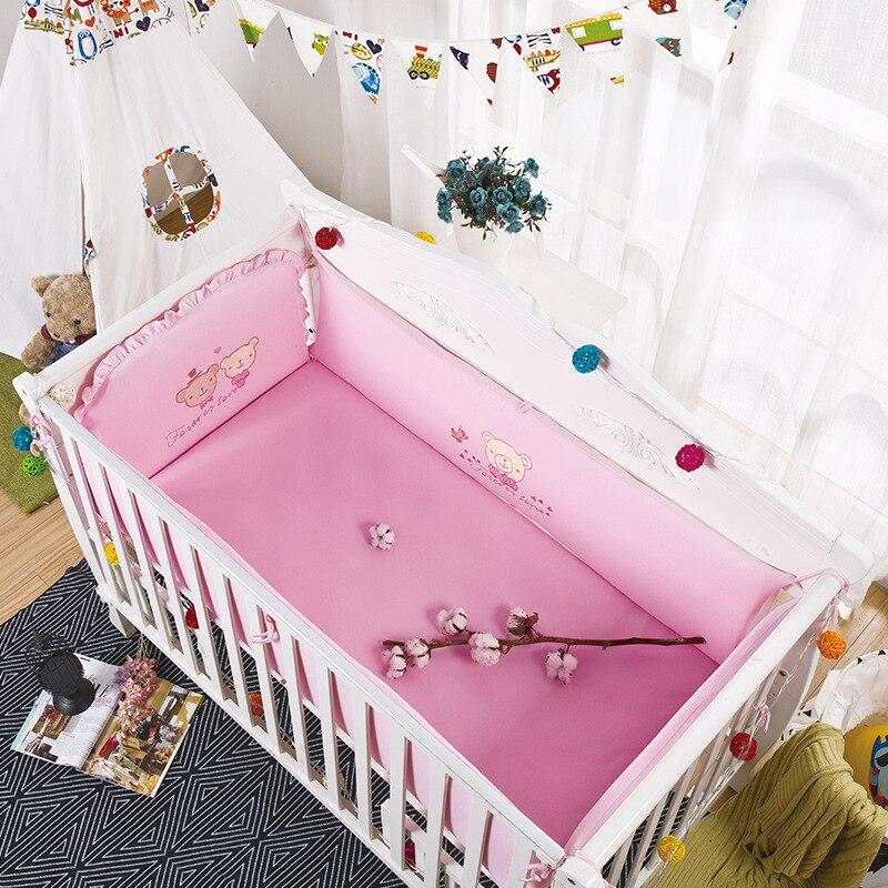 Coton lit de bébé Protection Bordures de Protection Confortable parure de lit Berceau du Nouveau-Né Lit Pare-chocs protège-matelas de Bande Dessinée Infantile