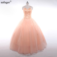 Robe De Mariee Sweetheart Wedding Dress 2018 Beaded Sequins Ball Gown Tulle Custom Bridal Gowns Formal Dress Shiny SOFUGER