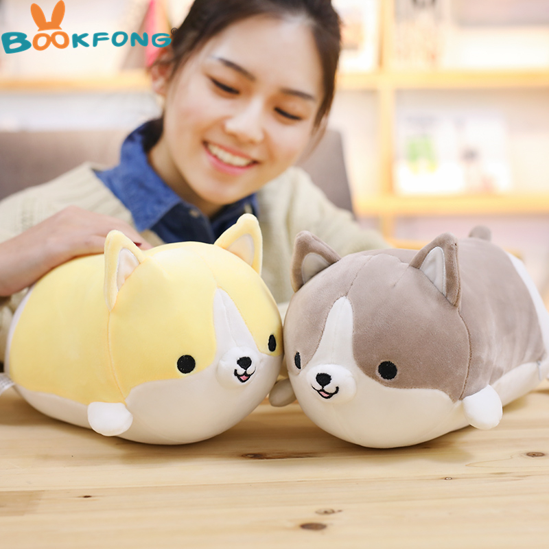 45/60cm Cute Corgi Dog Plush Toy Stuffed Soft Animal Pillow Lovely Cartoon Gift for Kids Kawaii Valentine Present for Girls 60cm lovely angel pig plush toy stuffed soft animal doll baby kawaii pig pillow best christmas gift for kids