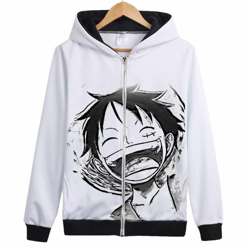 원피스 까마귀 애니메이션 패션 남성 여성 후드 코트 원피스 anime hoody with zipper 후드 티 스웨터 luffy smile face