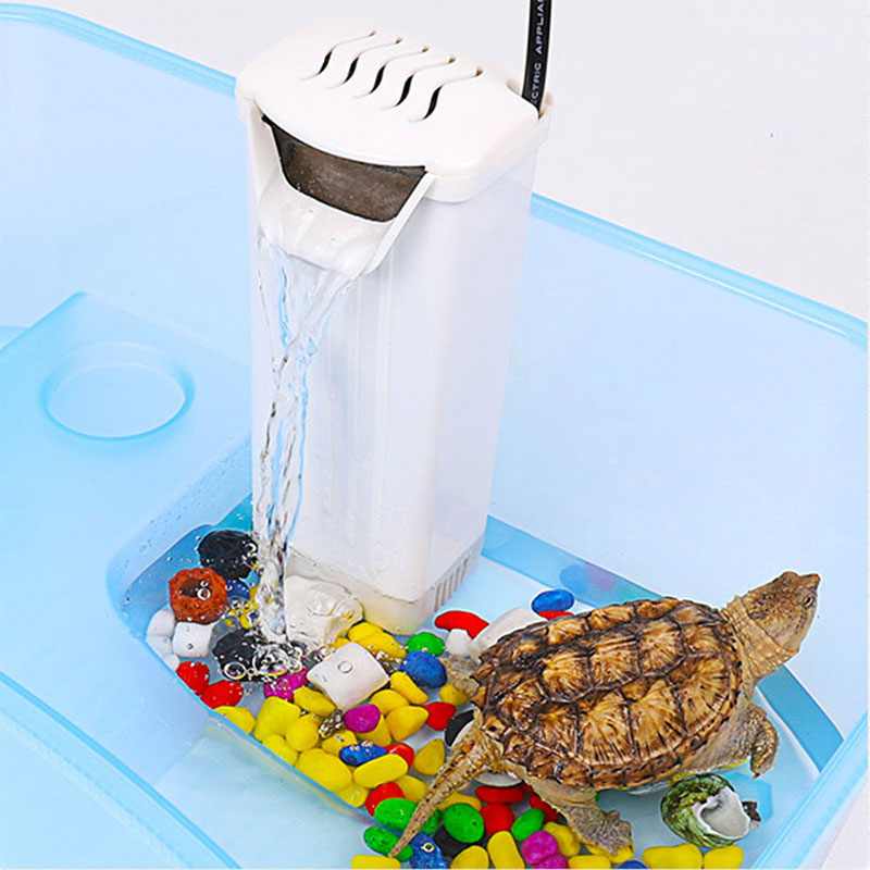 Аквариумный фильтр с низким уровнем воды, фильтры для аквариума, портативный фильтр-водопад, фильтр для черепахи, эффективный аквариум 3W