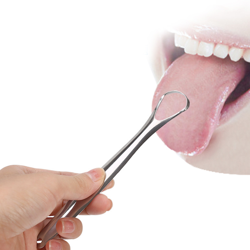 Stainless Steel Tongue Scraper Fresh Breath Metal Tongue Cleaner Tongue Brush Scraper Cleaning for Oral Care Oral Hygiene image