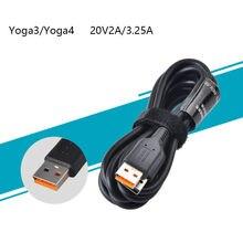 1 UNIDS USB Cuerda de Carga Del Cable de Alimentación CA Adaptador de Cargador para Lenovo Yoga3 Pro Yoga Yoga Yoga 3 Pro 4 Pro 700 900 miix 700