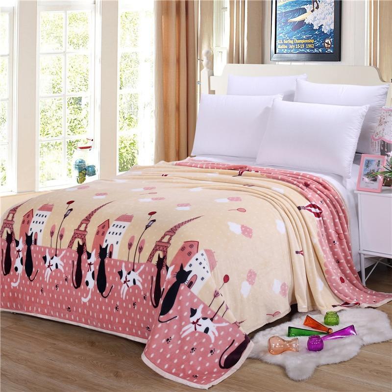 Fashion bilderrahmen stil Flanelldecke Auf Dem Bett Glatte Decke ...