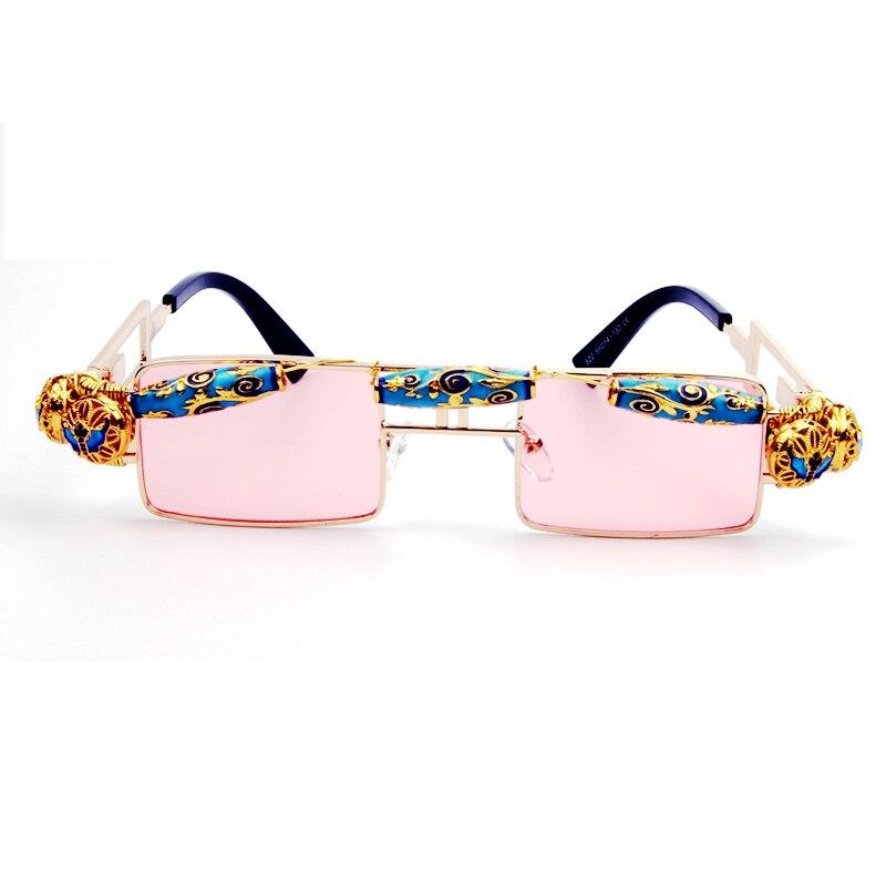 c0295bd98f055 Melhor Artesanato de Cobre de alta Qualidade óculos de sol Das Mulheres De  Luxo Árabe Jewel pequeno Quadrado Homens Steakpunk shades óculos de Sol Do  ...
