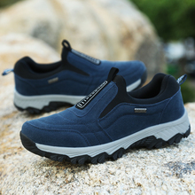 2019 Spring Autumn Shoes Man Breathable Comfortable Casual Men Big Size Flock Slip On Sneakers Fashion Safety Work