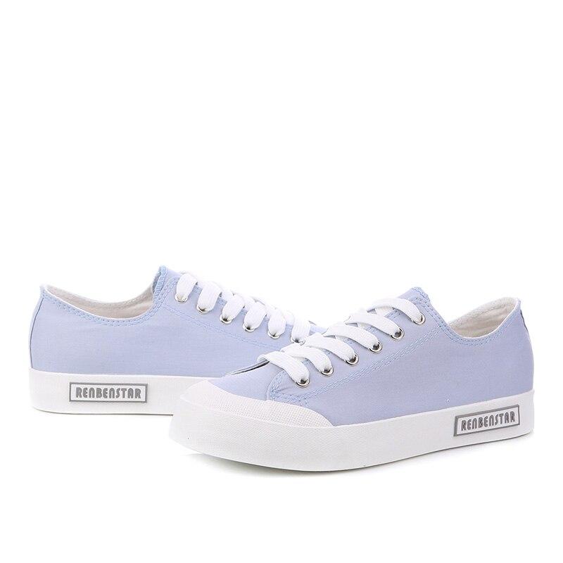 Lona Blue Casual De Ladies 2018 Transpirable Mujeres up La Zapatillas Zapatos Black Para Caminar Manera light yellow Planos Lace Tx4Aqxw