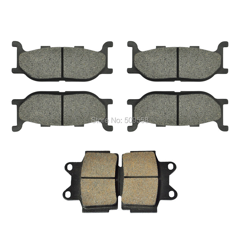 Complete Set of Motorcycle Brake Disc Pads for Yamaha XJ600 XJ600S Diversion 1992-1997 XJ600N 1995-1997 keoghs real adelin 260mm floating brake disc high quality for yamaha scooter cygnus modify
