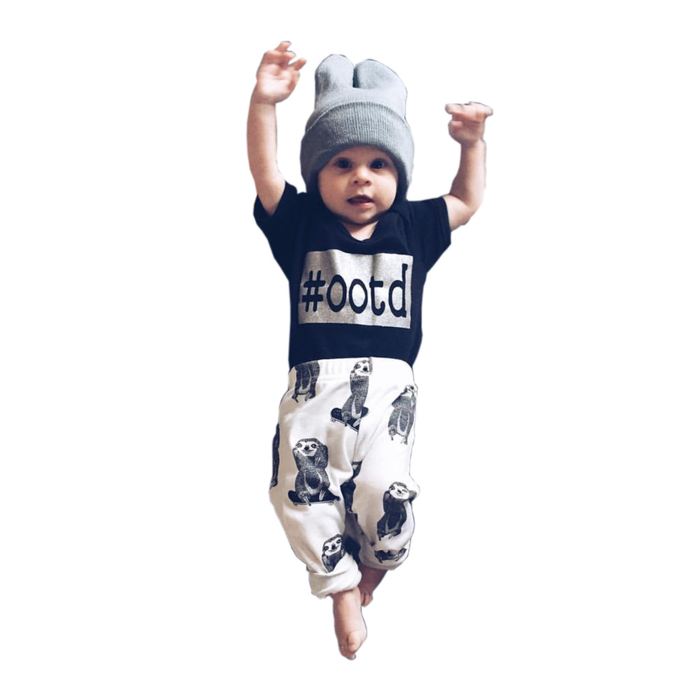 7a2942e660dc 2017 summer style Baby Clothing Newborn Baby Boy Gril clothes baby ...