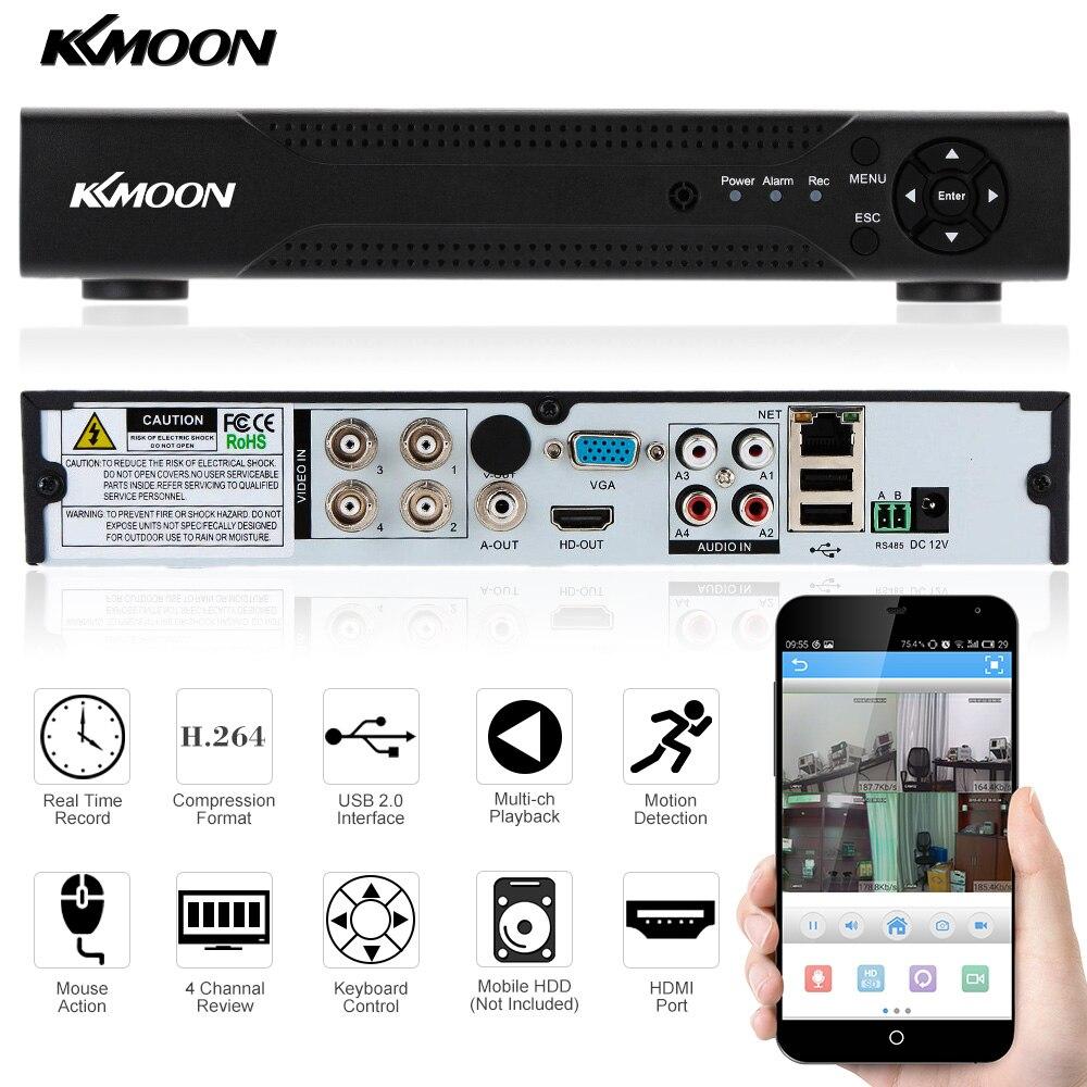 מוצר - KKmoon 4CH AHD DVR Video Recorder 960H/720P Network DVR 4 Channel H.264  CCTV 4CH DVR HVR NVR System P2P For CCTV Camera