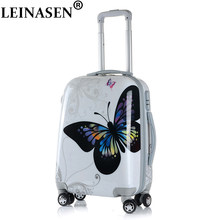 20 24 28 inch Cartoon Student Rolling Luggage Spinner Children Trolley Suitcase Wheels Kids Carry On Travel Bag Hardside Trunk(China)