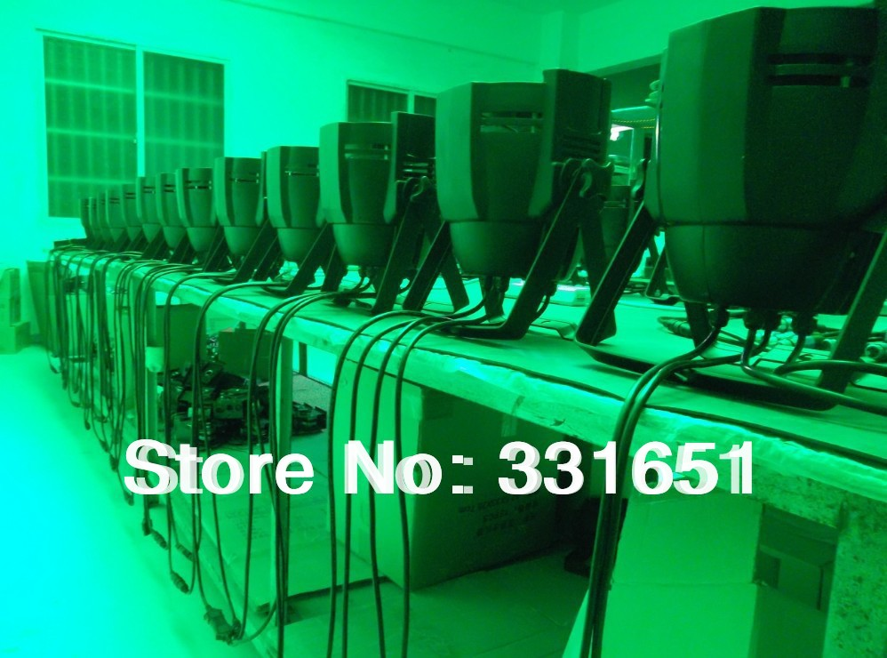12pcs/lot DJ Stage Par Can Light LED Spotlight 54x3W RGBW With Double Hanging Brackets free shipping 16 lot dmx 18x10w rgbw led par can light for stage decoration