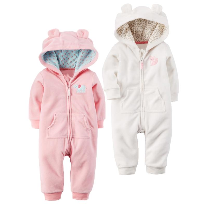 Outono & inverno bebê recém-nascido roupas de lã macacão meninos macacão com capuz macacão urso onesie bebê bebe menino macacao